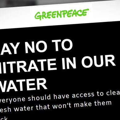 Greenpeace launches national petition to 'drop the Nitrate limit' in NZ's drinking Water
