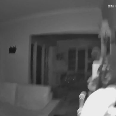 Shaking of magnitude 7.1 earthquake captured on interior Camera in New Zealand – video