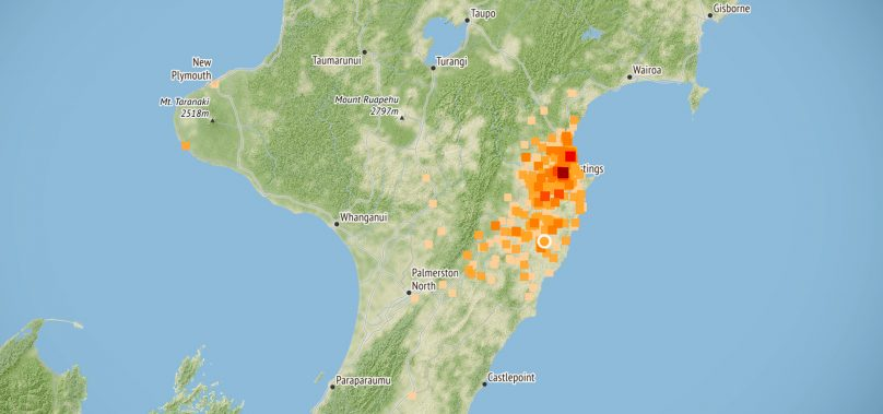 Many feel Magnitude 4.2 Earthquake near Waipukurau, Person reports 'hearing it' in Napier