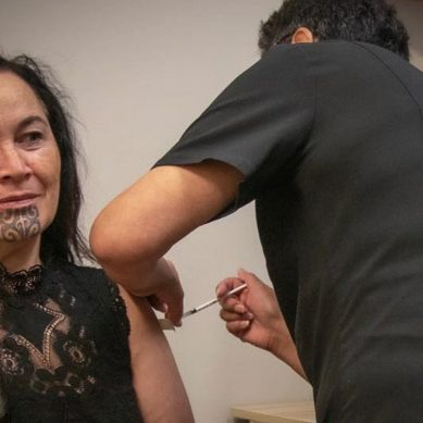 Māori Party Co-leader Debbie Ngarewa-Packer receives Covid-19 Vaccination